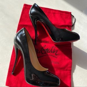 Authentic Christian Louboutin Pumps Black Patent